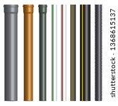 set of various plastic pipes...   Shutterstock .eps vector #1368615137