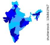india | Shutterstock .eps vector #136861967