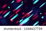 geometric neon speed lines... | Shutterstock .eps vector #1368627734