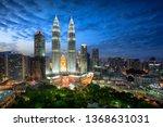 kuala lumpur skyline at dusk ... | Shutterstock . vector #1368631031