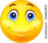 happy smiley emoticon face | Shutterstock . vector #136863947