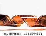 old vintage brown film of... | Shutterstock . vector #1368644831