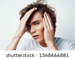 emotional cute guy with... | Shutterstock . vector #1368666881