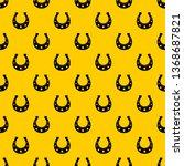 horseshoe pattern seamless...   Shutterstock .eps vector #1368687821