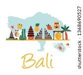 cartoon illustration with bali... | Shutterstock .eps vector #1368690527