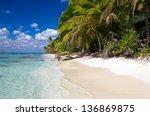 beautiful beach and tropical sea | Shutterstock . vector #136869875