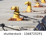 a mooring bollard entwined with ... | Shutterstock . vector #1368725291