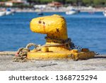 a mooring bollard entwined with ... | Shutterstock . vector #1368725294