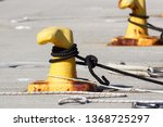 a mooring bollard entwined with ... | Shutterstock . vector #1368725297