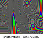 tv distorted rgb abstract... | Shutterstock . vector #1368729887