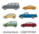collection of different cars.... | Shutterstock .eps vector #1368739304
