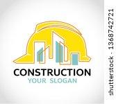 building logo architecture... | Shutterstock .eps vector #1368742721