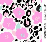 abstract floral seamless... | Shutterstock .eps vector #1368743834