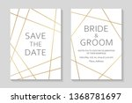 wedding invitations or card... | Shutterstock .eps vector #1368781697