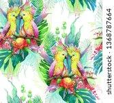 seamless pattern of watercolor... | Shutterstock . vector #1368787664