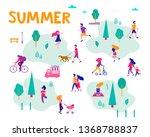 different activities of people... | Shutterstock .eps vector #1368788837
