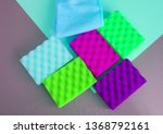 a set of multi colored sponges... | Shutterstock . vector #1368792161