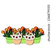 illustration ornament. bouquets ... | Shutterstock . vector #136879535