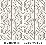 vector seamless geometric... | Shutterstock .eps vector #1368797591