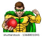 a superhero cricket sports... | Shutterstock .eps vector #1368801041