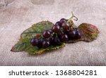 black wine grape on bagging   Shutterstock . vector #1368804281