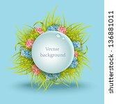beautiful vector artistic... | Shutterstock .eps vector #136881011