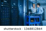 in the modern data center ... | Shutterstock . vector #1368812864