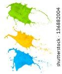 paint splash collection...   Shutterstock . vector #136882004