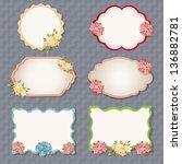 vector set  vintage labels with ... | Shutterstock .eps vector #136882781