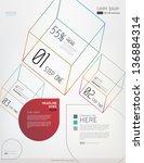 minimal modern infographic... | Shutterstock .eps vector #136884314