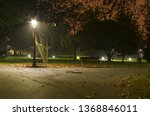 Lonely park at night