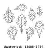 set of black and white vector... | Shutterstock .eps vector #1368849734