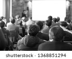 conference speaker in lecture... | Shutterstock . vector #1368851294