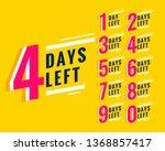 number of days left banner for... | Shutterstock .eps vector #1368857417