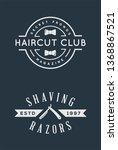 old barbershop vector emblems... | Shutterstock .eps vector #1368867521
