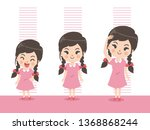 height of child grow up. little ...   Shutterstock .eps vector #1368868244