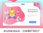 isometric flat landing page... | Shutterstock . vector #1368873017