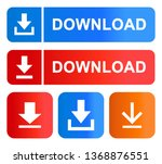 download icons color set vector ... | Shutterstock .eps vector #1368876551
