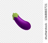 eggplant icon. isolated. violet ... | Shutterstock .eps vector #1368883721