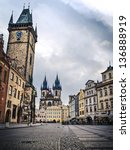 prague  old town hall  15th... | Shutterstock . vector #136888919