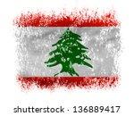 lebanon. lebanese flag  on... | Shutterstock . vector #136889417