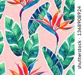 floral exotic seamless pattern. ... | Shutterstock . vector #1368908924