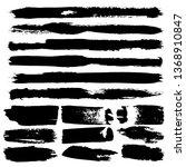 set of brush strokes  stains ... | Shutterstock .eps vector #1368910847