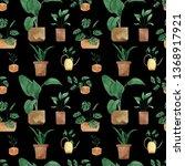 watercolor seamless pattern of... | Shutterstock . vector #1368917921