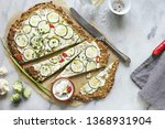cauliflower pizza crust with...