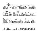 city line landscape. office... | Shutterstock . vector #1368936824