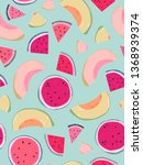 seamless pattern design with...   Shutterstock .eps vector #1368939374
