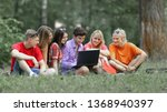 group of college students... | Shutterstock . vector #1368940397