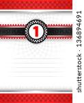 certificate of award ... | Shutterstock .eps vector #136894691