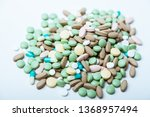 pile  of colorful pills  ... | Shutterstock . vector #1368957494